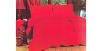 Cuvertura pat 3 piese model brodat rosie CV19