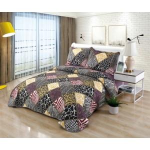 Cuvertură de pat MATLASATĂ cu 2 Fețe Diferite, Pat Dublu, 3 Piese, MODEL CM30