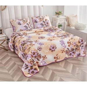 Cuvertură de pat MATLASATĂ cu 2 Fețe Diferite, Pat Dublu, 3 Piese, MODEL CM14