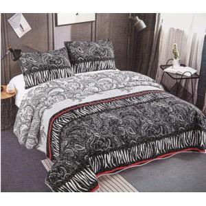 Cuvertură de pat MATLASATĂ cu 2 Fețe Diferite, Pat Dublu, 3 Piese, MODEL CM18
