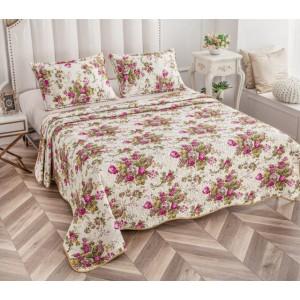 Cuvertură de pat MATLASATĂ cu 2 Fețe Diferite, Pat Dublu, 3 Piese, MODEL CM28