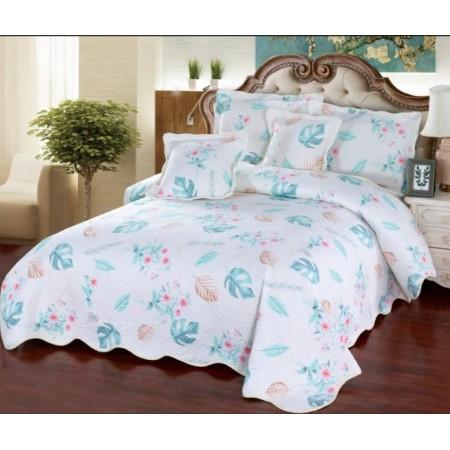 Cuvertura de  pat bumbac 100% 5 piese model imprimat CV5-029
